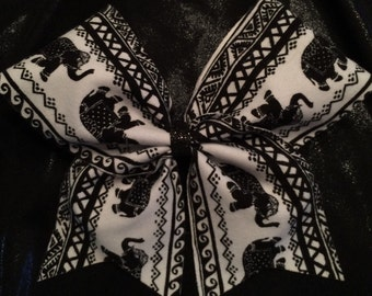 Black and white elephant bow