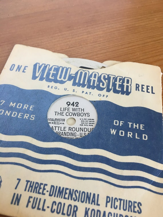 1951 view master reel vintage Life with Cowboys Sawyer's Inc cattle branding