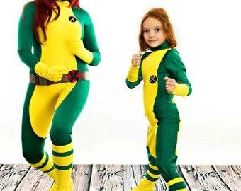 Children's X-men Rogue Marvel cosplay Halloween Costume