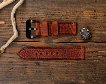 Watch Strap, Handmade Leather Watch Strap 20, 22, 24, 26 mm. , Leather Watch Band, Genuine Italian leather premium.