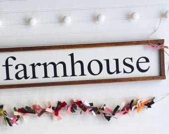 Farmhouse Sign . Farmhouse Decor . Farmhouse Kitchen . Fixer Upper . 30 x 7 . Country . Kitchen Sign . Farmhouse . Framed Sign