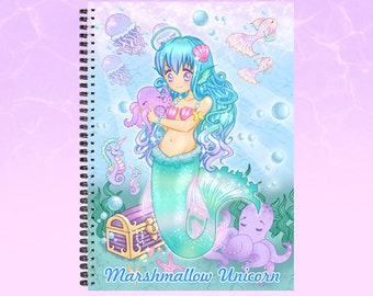 Mermaid sketchbook notebook