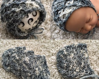 Newborn knit round  back bonnet,knit,crochet,photo prop,coming home,gift idea,rts