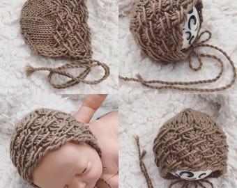 NEWBORN knit bonnet