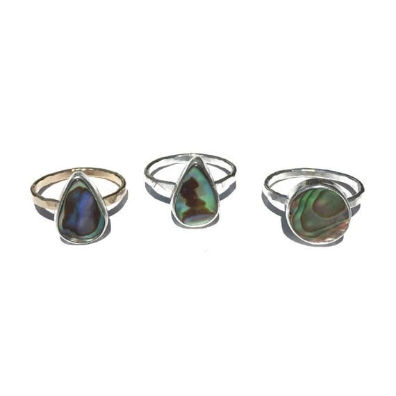 abalone stacking rings, size 6