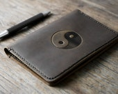 Yin and Yang Leather Journal Notebook Personalized Leather Journal Leather Notebook #072
