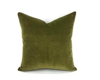 Moss Green Velvet Pillow Cover - Ready to Ship