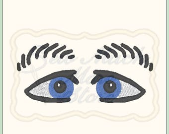 EYES #4 -  From The Silly Faces Collection - Machine Embroidery File - eyes - plain eyes - girl - boy - doll eyes - doll face - doll making