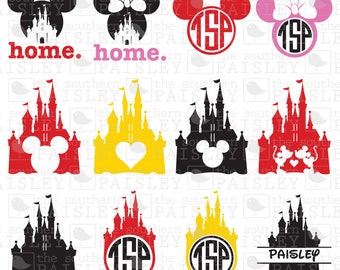 Disney Frames - .svg/.eps/.dxf/.ai for Silhouette Studio, Cricut, or other cutting software