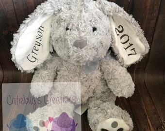 Personalized Easter Bunnies, custom bunnies, stuffed animals, Easter