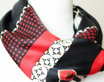 Ref: MR, Snood Special Biker, handmade in lyon, high quality silk, French craftsmanship- Limited Edition-
