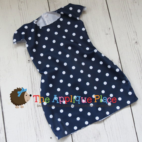 Doll clothing pattern in the hoop ith simple dress