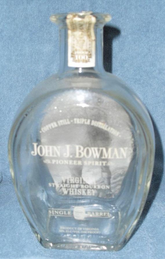 John j bowman virginia single barrel straight bourbon whiskey 750ml empty recycled used liquor - Uses for empty liquor bottles ...