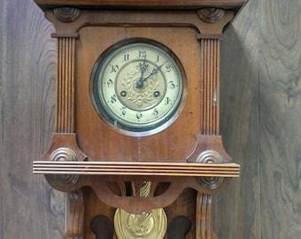 Antique wall clock Etsy
