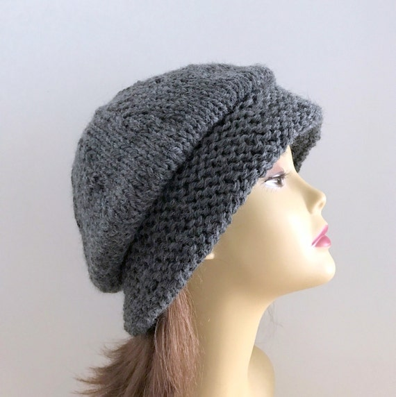 Cloche Hat Pattern Knitting : Hat Knitting Pattern Cloche Pattern Vintage Cloche