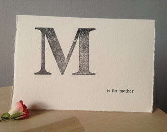 Letterpress Mother's Day Greeting Card