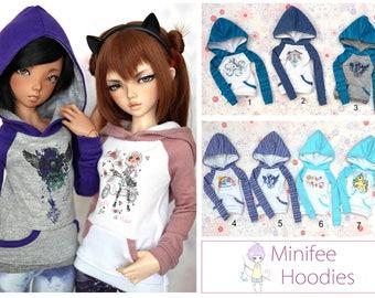 Minifee Printed Hoodie - Blue Set *Choose Your Style*