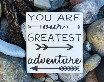 You Are Our Greatest Adventure Sign Woodland Nursery Decor Greatest Adventure Wood Sign Nursery Wall Decor Woodland Wall Art Decorations Art