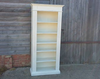 Massive Vintage Painted Shabby Chic Bookcase Storage Adjustable