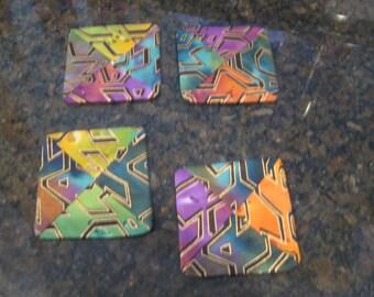 21 Aztec Pattern Coasters