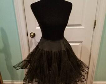 Vintage 50's Black Full Tulle Crinoline