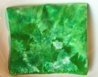 Chlorophyll Hand Dyed New Wool Fabric, Rug Hooking, Penny Rugs