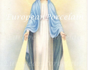 Vintage European, Italian postcard from beginning of 1900's - Blessed Virgin