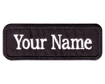 """Military 3"""" to  5"""" x 1"""" """" inches Custom Embroidered Name Tag Patch"""