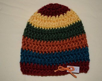 Fall Striped Infant Beanie