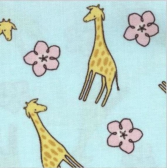 Giraffe Fabric By The Yard Quilting Nursery Baby