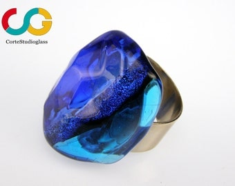 Murano glass ring-Spadaria collection