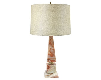 Onyx Natural Stone Table Lamp   Mid Century   Natural