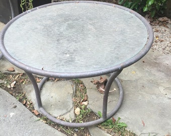 Round Pebble Glass Side Table