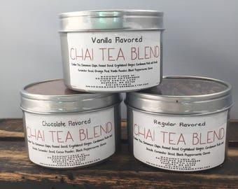 Three Chai Teas - Chocolate Vanilla and Regular - Indian Chai Tea Blend - Dried Tea Mix - Tea Lover Gift - Chai Latte -Boondock Enterprises