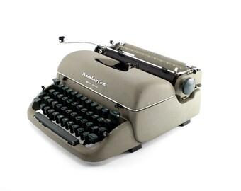 Reconditioned Remington Quiet-Riter Vintage Typewriter - Working Remington Portable Typewriter - Olive/Gray Typewriter - Excellent Condition