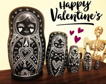 Valentines Russian doll set
