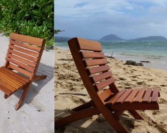 SALE- Collapsible Outdoor Mahogany Chairs, beach chairs, outdoor chairs, wood chairs, deck chairs