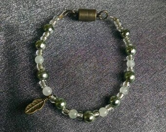 Green Feather Bracelet