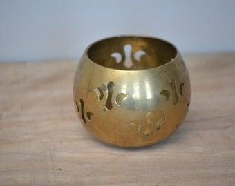 Vintage Brass Tea Light Holder + FREE Shipping