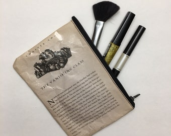 Harry Potter Book Themed Vinyl Pencil or Make-Up Pouch - The Vanishing Glass