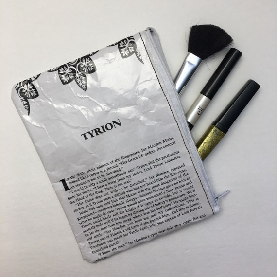 Game of Thrones Themed Vinyl Pencil or makeup pouch - Tyrion