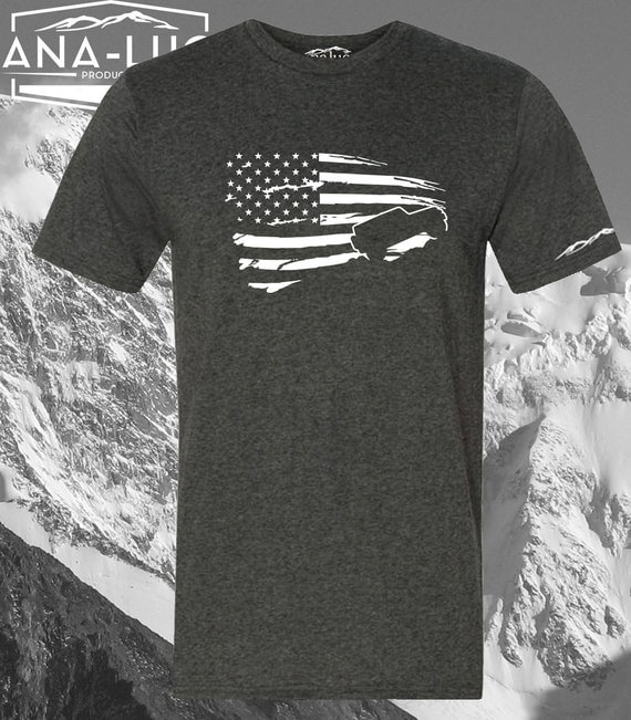 Distressed jeep wrangler shirt usa american flag for Custom t shirts distressed