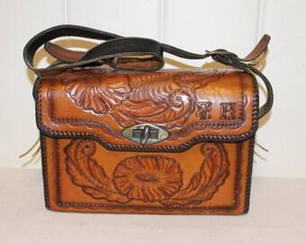 Hand Tooled Leather Bag, Purse
