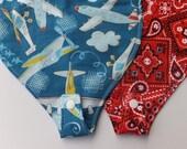 Pacifier Bib 2Pk Pacifier Bib Set  Airplanes, Red Neckscarf, Preemie Bib Set, New Baby Shower Gift Bib Set, Binky Bib Pacifier Holder