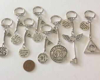 NEW Harry Potter inspired  keyrings/bag charms