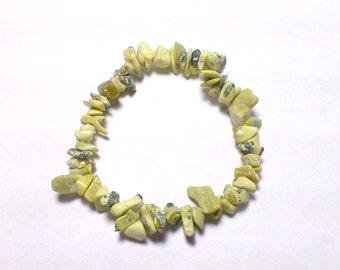 African Turquoise Elastic Baroque Bracelet