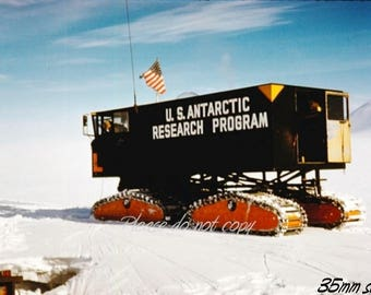 Kodachrome 35mm slide ~ Antarctic Exploration Research Vehicle ~ abstract view