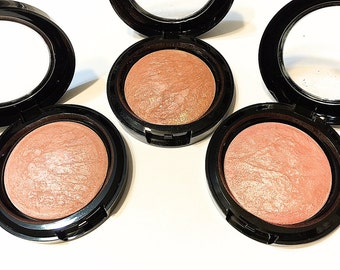 Organic Botanical Blush Bronzer - Baked Mineral Makeup - Natural Face Color Gluten Free Makeup