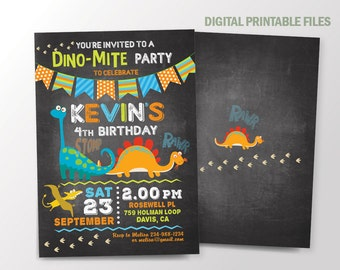 Dinosaur Birthday Invitation, Dinosaur Invitation, Dinosaur Party Invitation, Dinosaur Invitations, Dinosaur Party, T-Rex Invitations