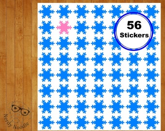 Snowflake Stickers, 56, Snowflake Planner Stickers, Snowflake Sticker Set, Snowflake Envelope Seals, Snowflake Envelope Sticker, Snowflakes